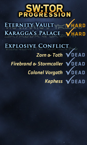 TOR Progression: clearing Explosive Conflict